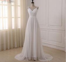 Elegant Beach Wedding Dress With straps