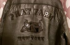 Phat Farm New York 2XL Mens Leather Bomber Jacket