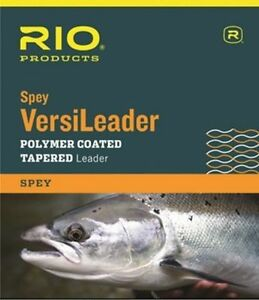 Rio Spey VersiLeader Polymer Coated Tapered Leader 24lb 6ft/10ft Salmon Fishing
