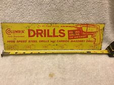 Columbia Drills Sign Vintage Drill Bit Hardware Store Free Shipping