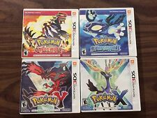 Pokemon Omega Ruby + Alpha Sapphire + X + Y (Nintendo 3DS LOT) Complete