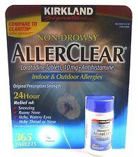 Kirkland AllerClear® Loratadine 10 mg Non-Drowsy 365 Tablets Allergy