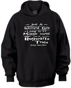JUST A WIZARD GIRL LIVING IN A MUGGLE WORLD XMAS GIFT KIDS HOODIE