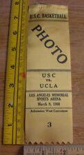 1968 USC vs UCLA mens Basketball press pass ribbon vintage Lew Alcindor