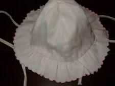 Chapeau avec noeud à nouer sous le menton rose bleu jaune blanc 6-12 mois