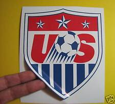 """BEST PRICE! LOT OF 10 SOCCER DECAL / STICKER USA 5"""" X 6"""""""