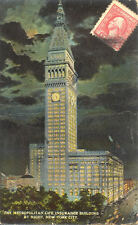 ETATS-UNIS USA NEW YORK NY metropolitan life insurance building by night stamp