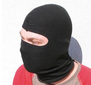 Motorcycle Under Helmet Balaclava Face Mask Neck Warmer Black Cotton