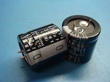 (2) NICHICON LLK1V472MHSA 4700uF 35V 85°C SNAP IN ALUMINUM CAPACITOR