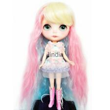 High-temperature Long Curl Hair Wig for 1/6 Blythe Doll Costume Accessory #2