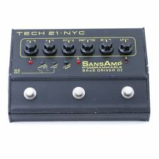 Tech 21 SansAmp Programable Bass Driver DI Bass Guitar Effects Pedal P-07209