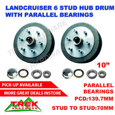 Trailer Drums Landcruiser 6 stud with Parallel bearing Trailer Boats Hub10inch