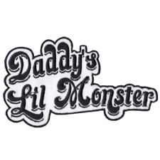 """Harley Quinn Daddy's Lil Monster Embroidered Sewn/Iron On Patch 2 3/4"""""""