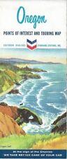 1963 CHEVRON OIL Road Map OREGON Eugene Salem Mount Hood Klamath Falls Portland