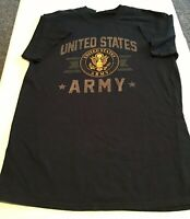 Army Black Adult/'s T-shirt United States Military Tee for Men 1275P