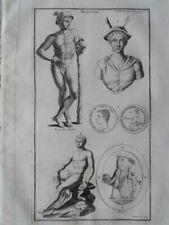 Mercure od. Hermes 71 Mythologie Antike röm. Reliefs Montfaucon Kupferstich 1722