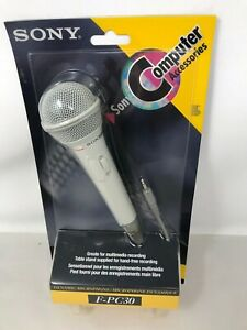 SONY™ F-PC30 Professional Dynamic PC Microphone w/Stand NEW IN PACKAGE