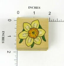 Wood Block Rubber Stamp: Flower, Spring, Summer