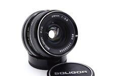 Canon FD Soligor 28mm 1:2.8  Festbrennweite Weitwinkel Objektiv wide lens *OIL*