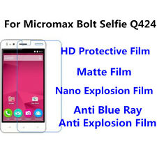 3pcs For Micromax Bolt Selfie Q424 High Clear/Nano Explosion Screen Protector