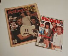 THE PRETENDERS (2) Magazine LOT 1980-1984 Rolling Stone + Record Excellent