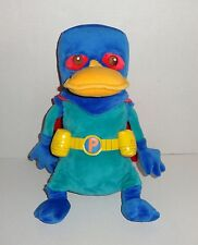 "Disney Store Exclusive Phineas & Ferb Perry Platypus Plush Super Hero 12"" P44"