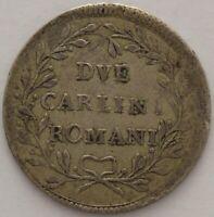 ITALIE ETATS PONTIFICAUX 2 CARLINI ROMANI 1780
