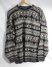 VINTAGE Multi-Color TUNDRA SWEATER Men's L, 'Cosby Coogi' Style, Wool Blend EXC!