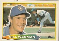 FREE SHIPPING-MINT-1988 Topps Big Milwaukee Brewers #244 Bill Wegman