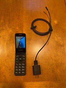 Alcatel GO FLIP Phone 4G Consumer Cellular TMobile Blue Smartphone 4044W-2BTBUS1