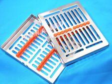 GERMAN Dental Instrument Autoclave Sterilization Cassette Tray Rack-10 Ins ORANG