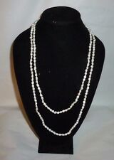 "Vintage Natural White Fresh Water Pearl Fashion Necklace 32"" - FN0045"