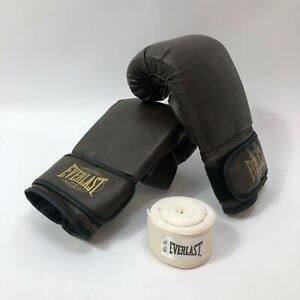 Everlast Training Boxing Gloves Size Large/X-Large Brown With Bandage NWOT