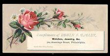 PHILADELPHIA TRADE CARD, EDWIN S RADLEY, WATCHES JEWELRY, 704 ARAMINGO ST TC1135
