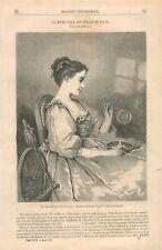 La jeune fille aux Bulles Tableau de Charles Chaplin peintre GRAVURE PRINT 1867