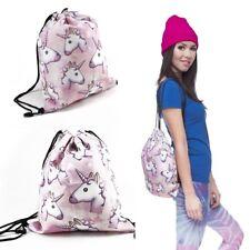 Unicorn Backpack Idea Rucksack Bag Gym Laundry 3d Printing Swim Drawstring Gift
