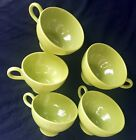 Rhythm by Homer Laughlin -5 cups and 6 saucers - green S64N4