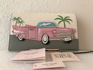 Kate Spade Make It Mine Pink Cadillac Car Convertible Purse Flap Pre-Owned