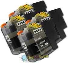 4 Cartuchos de Tinta Negra LC229XXL para Brother Impresora MFCJ 5625DW MFCJ 5720DW