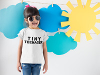 Tiny Teenager Kids T-shirt Toddler Baby Boy Girl Threenager Wild Child