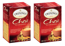 Twinings Chai Tea - 2 Boxes - 40 Tea Bags