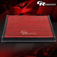 RED WASHABLE HIGH FLOW AIR FILTER PANEL FOR 96-04 AUDI A4/A6/S4/S6 VW PASSAT