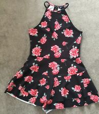 Girls Next Floral Playsuit Age 12