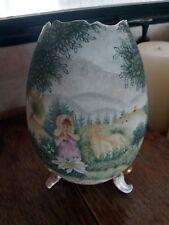 Royal Bayreuth Tapestry Egg Shape Vase Little Bo Peep