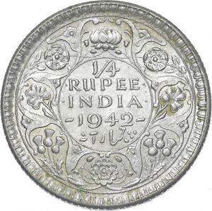 Better - 1942 British India 1/4 Rupee - TC *269