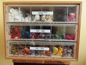 DMC 3-Drawer All Wood Cabinet w/ Dividers Needlepoint/X-Stitch Floss #150-554