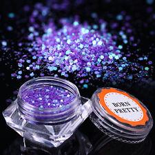 1.5g BORN PRETTY Purple Glitter Sequins Hexagon Sparkle Nail Flakies Manicure