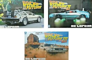 Aoshima 1/24 De Lorean ' Back to the Future ' Car Kit New Plastic Model Kit