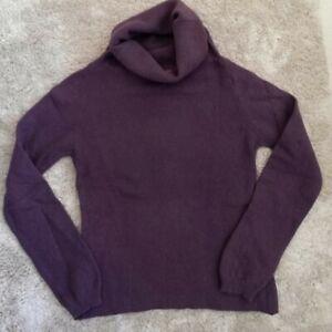 Maglione donna  lana e angora, colore melanzana, taglia 42 , dolcevita