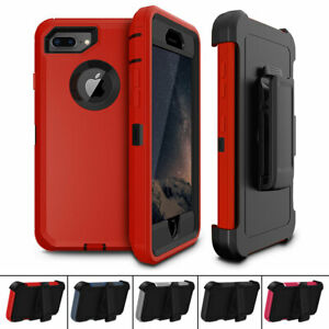 For Apple iPhone 7 Plus / 8 Plus Belt Clip Holster Shockproof Heavy Duty Case